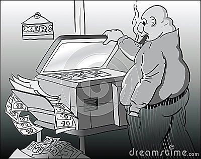 Money Falsification Stock Photos - Image: 13388343
