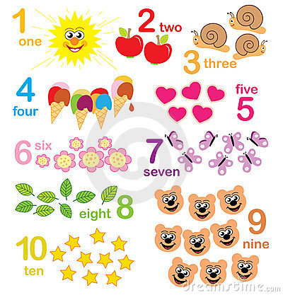 counting game for kids Stock Photo