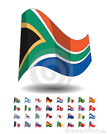 countries flag icons, FIFA world cup 2010