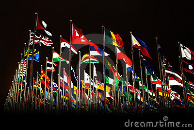 Countries flags in Shanghai World Expo Editorial Photo