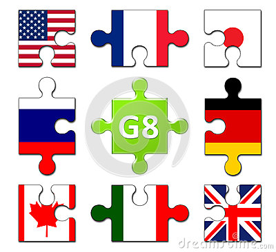 Countries Members of the G8 group