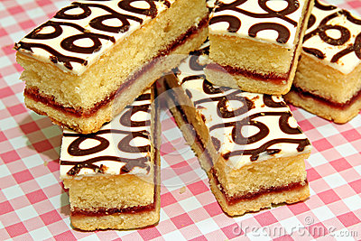 Country bakewell slices
