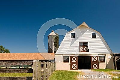 Country barnyard and silo
