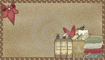 Country Bath Products Background