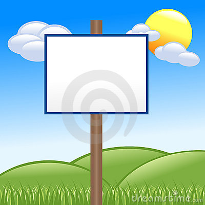 Country Blank White Message Sign
