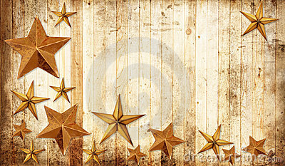 Country Christmas stars