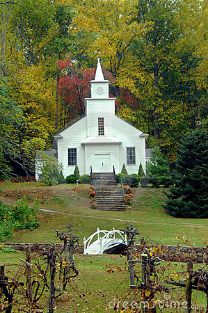 Country Church with Grape Arbor