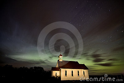 Country Church Night Photography