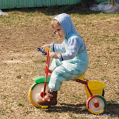 On the country on the coloured tricycle