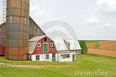 Country dairy farm abandoned