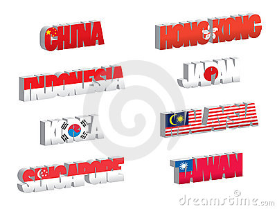 Country flags-asia