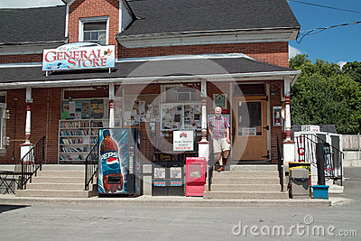 Country General Store Clayton Ontario Canada Editorial Photo