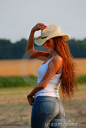 Country Girl Stock Photo Image 6241780