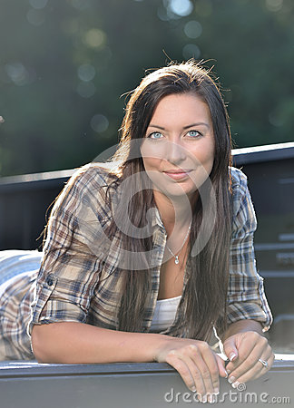 Country girl stock photo image 58193523 for Country girl flannel shirts