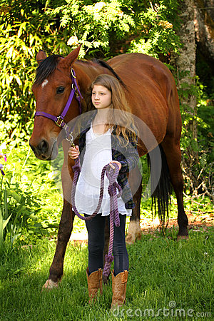 Country Girl and Horse
