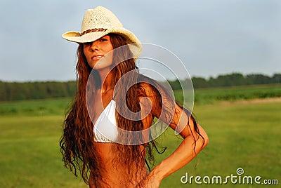 country girl long hair