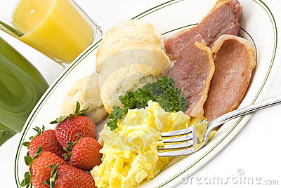Country Ham and Egg Breakfast