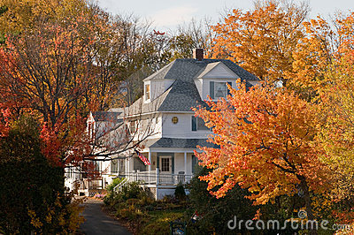 Country home in autumn