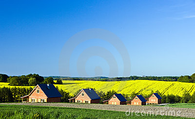 Country houses landscape