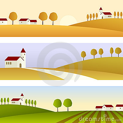 Free Country Landscape Banners Stock Photos - 16762303