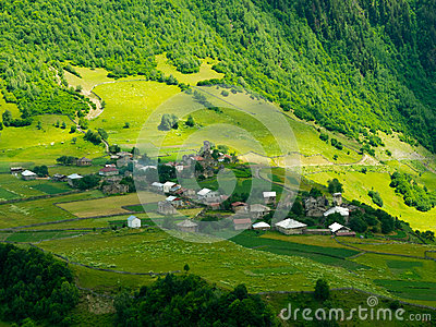 Country landscape in