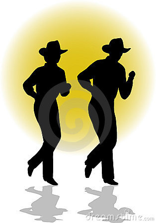 Country Line Dancing Couple/ai