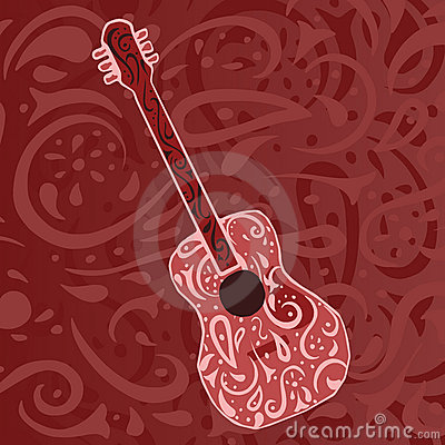 Free Country Music Background - Guitar Royalty Free Stock Photography - 4378077