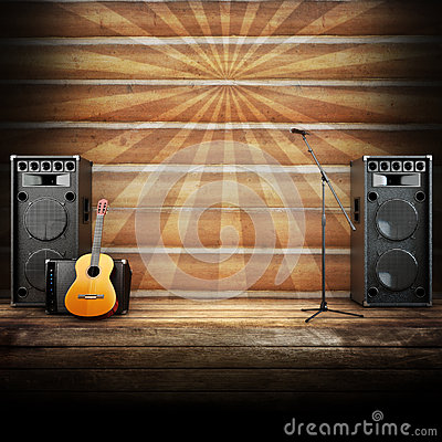 Free Country Music Stage Or Singing Background Royalty Free Stock Photos - 31134108