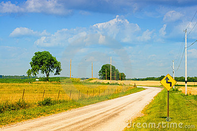 Country Road Royalty Free Stock Images - Image: 12242199