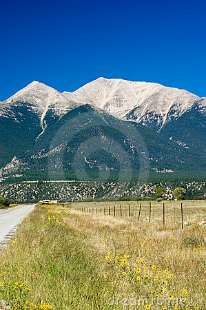 Country Road and Mountains
