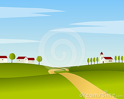 Country Road Summer Landscape