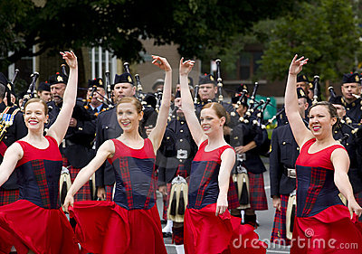Country Scottish Dancers at 2010 Royal Tour Editorial Photo