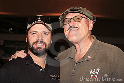 Country singer Mark Wills with WWE Sgt. Slaughter Editorial Image