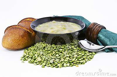 Country Split Pea Soup and Fresh Bread