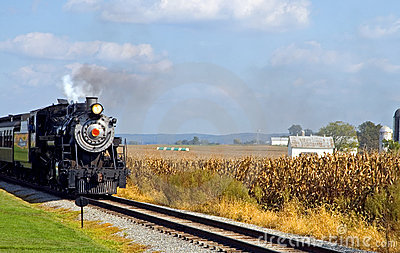 Country steam locomotive