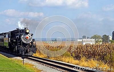Country steam locomotive