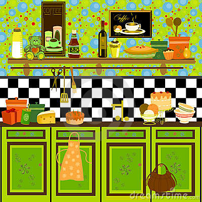 Country style retro kitchen