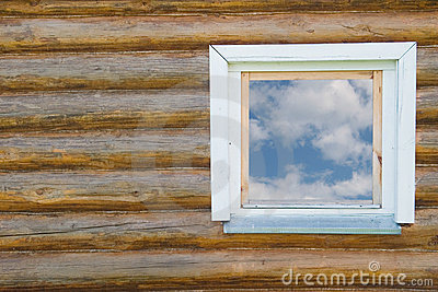 Country-style window in a house