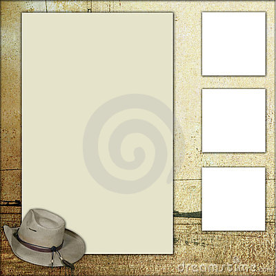 templates for scrapbooking to print - country theme scrapbook frame template royalty free stock