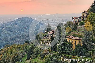 Countryside by Bergamo, Lombardy, Italy, Europe