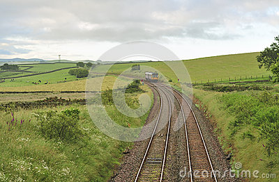 Countryside commuter train, Yorkshire