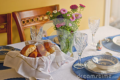 Countryside dinner table