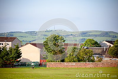 Countryside houses view