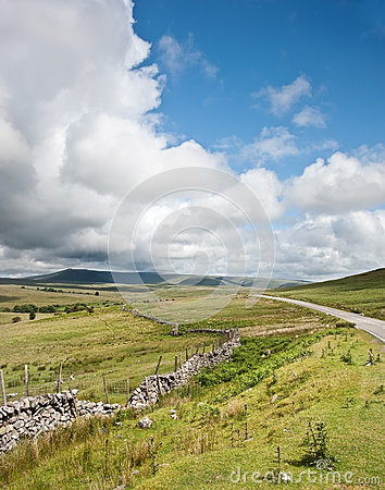 Countryside landscape image across to mountains