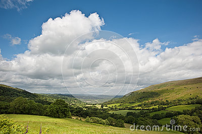 Countryside landscape image Summer valley