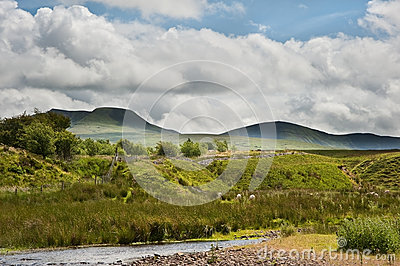 Countryside landscape image to mountains