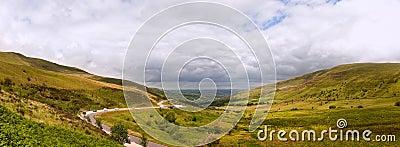 Countryside landscape panorama
