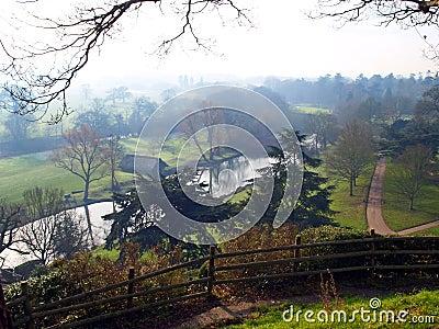 Countryside near Warwick castle in the UK