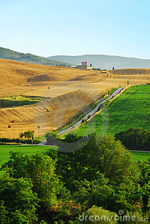 Free Countryside Of Tuscany Royalty Free Stock Images - 23286629