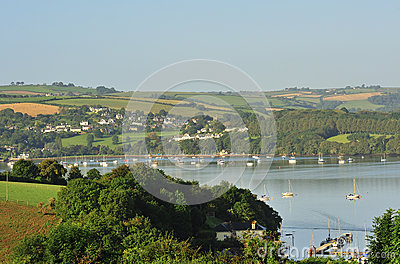 Countryside, river Dart estuary, Devon